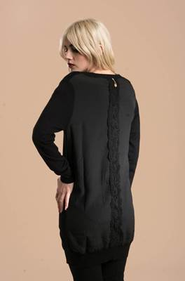 Picture of CARDIGAN LUNGO GRINFI/A RETRO GEORGETTE RELISH