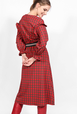 Picture of ABITO MIDI TARTAN IMPERIAL