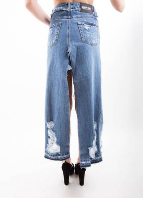 Immagine di GONNA LUNGA DENIM C/ STRAPPI SHOP*ART