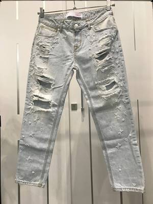 ... Picture of JEANS MELLY CON APPLICAZIONI PERLE DENIM Up Jeans 4bbb21bd29e