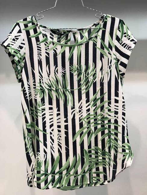 Picture of BLUSA NOVArighe/palme S/S LUX AOP ONLY