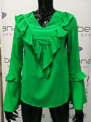 Picture of BLUSA CHLOE ROUCHE MANICA CAMPANA ONLY