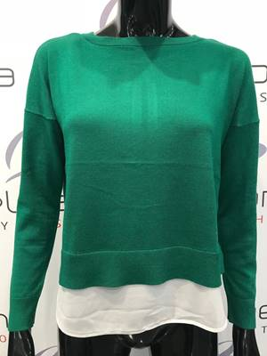 Picture of PULLOVER ROSANA C/ FIOCCO E PANNELLO ONLY