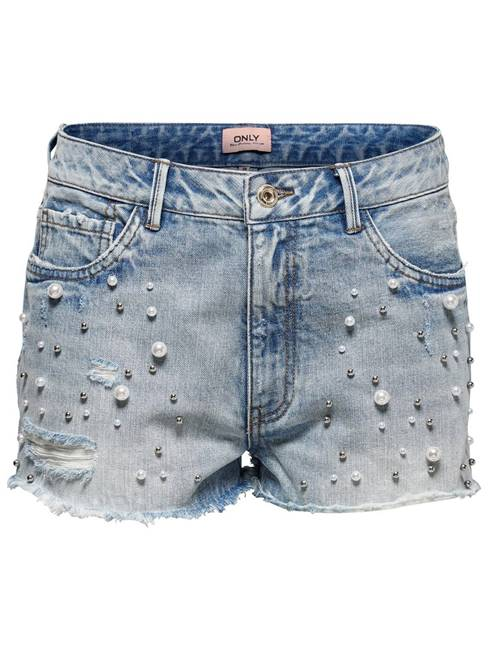Picture of SHORTS DIVINE PEARLS DENIM ONLY