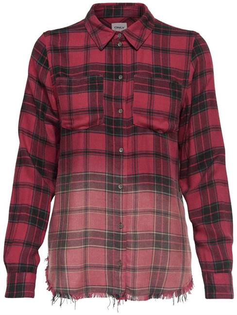 Picture of CAMICIA ROCK QUADRI BORDO SFRANGIATO ONLY