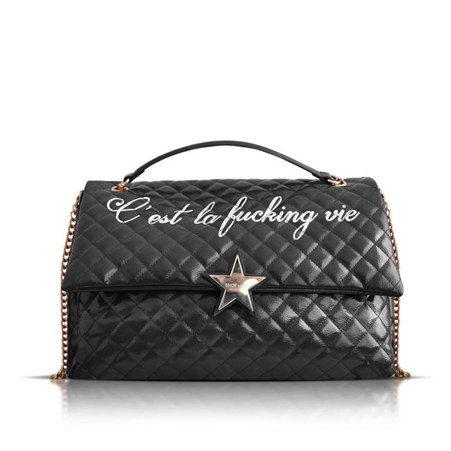 "Picture of BORSA VERNICE ""C' est la fucking vie"" SHOP*ART"