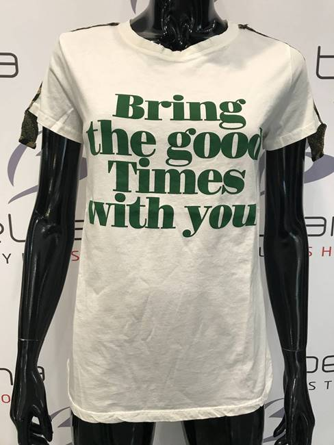 "Picture of T-SHIRT ""Bring the good..."" INSERTI LUREX VICOLO"