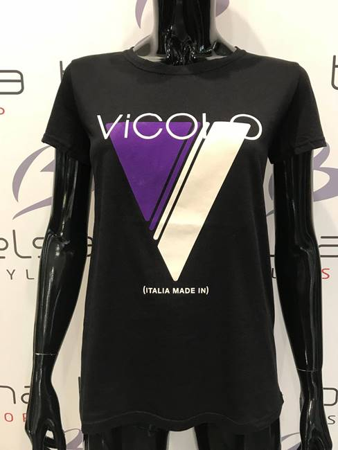 "Picture of T-SHIRT V ""Italia made in"" VICOLO"