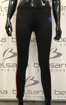 Picture of LEGGINGS PUNTO MILANO BANDA CON ZIP SHOP*ART