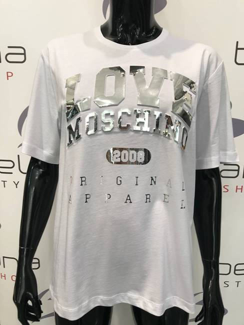 Immagine di T-SHIRT STAMPA RILIEVO LOVE MOSCHINO