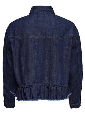 Picture of CAMICIA JEANS LIVA OVERSIZE ROUCHES BORDO ONLY