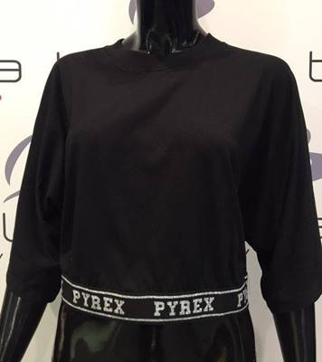 Picture of T-SHIRT OVER BORDO FASCIA ELAST. GLITTER PYREX