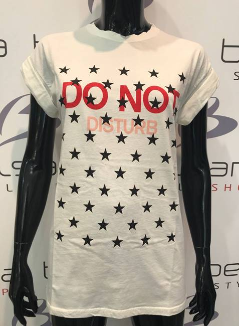 """Picture of T-SHIRT """"do not disturb"""" STELLE VICOLO"""