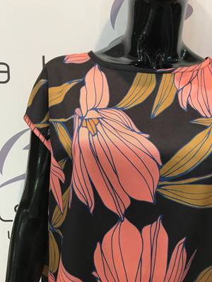 Picture of BLUSA BOTTONCINI RETRO FIORI GRANDI VICOLO