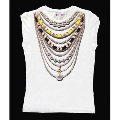 Picture of T-SHIRT CORDA NERO/GIALLO TIP&TOP
