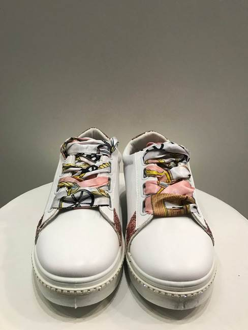 Immagine di SNEAKERS LACCI NASTRO PARA C/STRASS RETRO GLITTER MYLIFE