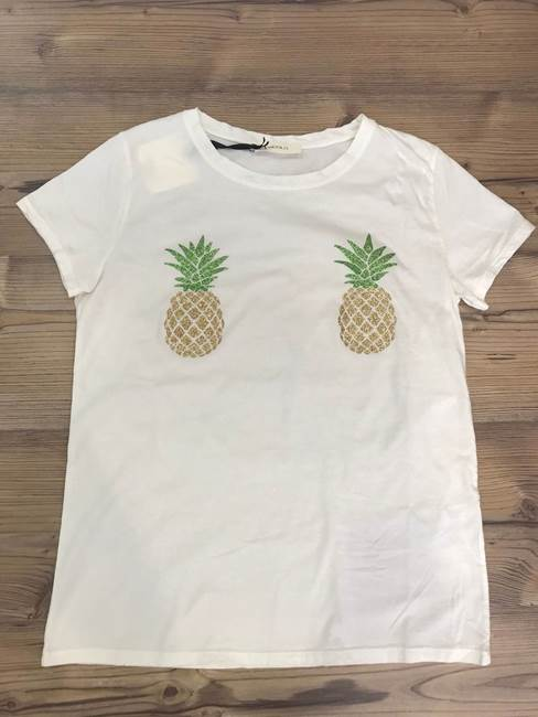 Picture of T-SHIRT ANANAS GLITTER VICOLO