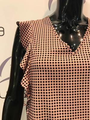 Picture of BLUSA V MAN. VOLANT POIS IMPERIAL