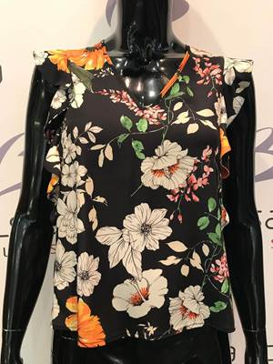 Picture of BLUSA V MAN. VOLANT FANTASIA FIORI IMPERIAL