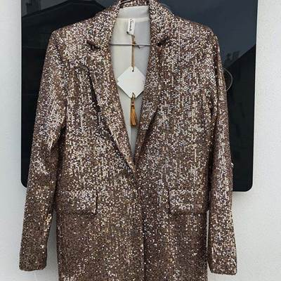 Picture of GIACCA MONOBOTTONE IN PAILLETTES SOUVENIR