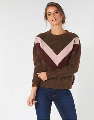 Picture of PULLOVER FCORA GIROCOLLO FANT. V BICOLOR ONLY