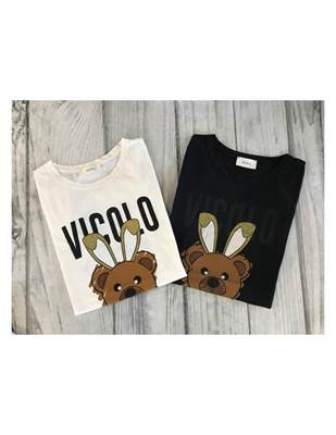Picture of T-SHIRT STAMPA ORSACCHIOTTO CUORE VICOLO