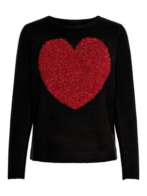 Picture of PULLOVER SANNE STAMPA CUORE C/PELO ONLY
