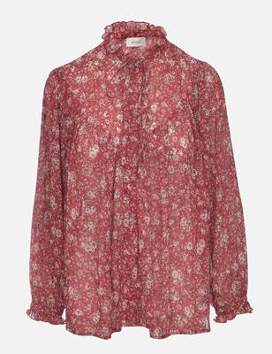 Picture of CAMICIA FANTASIA FIORELLINI C/ROUGE COLLO+MAN. VICOLO