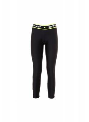 Picture of LEGGINGS IN TESSUTO TECNICO C/STRISCIA BIANCA+GIALLO FLUO SHOP*ART
