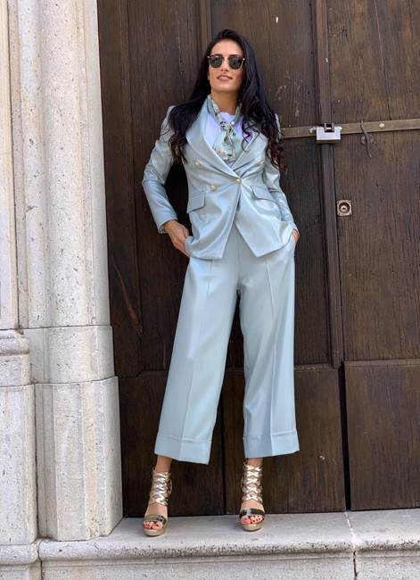 Picture of PANTALONE CROP LUREX MARYLEY