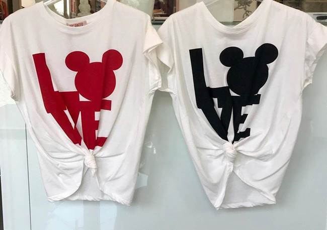Immagine di T-SHIRT LOVE MOUSE C/NODO KONTATTO