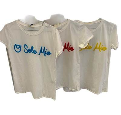 "Picture of T-SHIRT STAMPA ""O SOLE MIO"" VICOLO"
