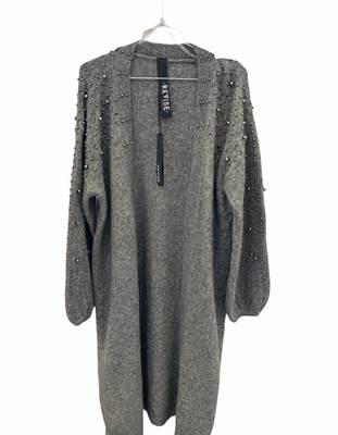 Picture of CARDIGAN LUNGO C/PERLE MAN. A PALLONCINO REVISE