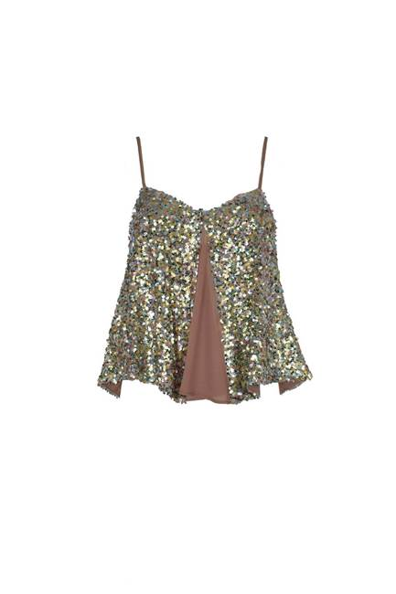 Picture of TOP BERLIN CORTO C/PAILLETTES MULTICOLOR+GEORGETTE RELISH