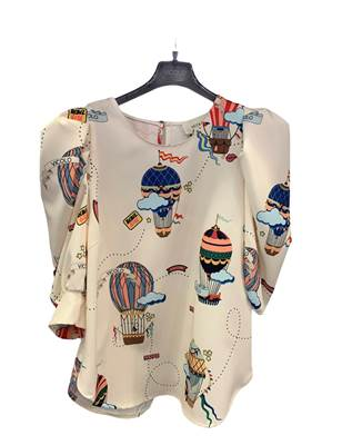 Picture of BLUSA MAN. 3/4 A SBUFFO STAMPA MONGOLFIERE VICOLO